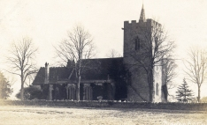 St James Church, about 1900 - with then very small cypress trees