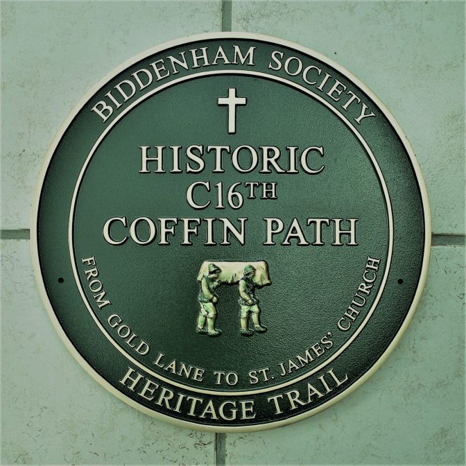 Heritage plaque commemorates Biddenham's historic coffin path